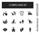 set of 12 editable kid icons....