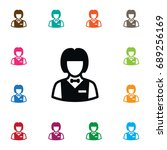 isolated dealer icon. banker ... | Shutterstock .eps vector #689256169