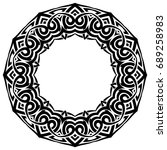 abstract vector black and white ... | Shutterstock .eps vector #689258983