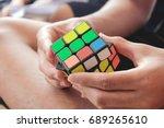 rubik's play | Shutterstock . vector #689265610