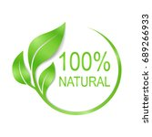 100  natural vector logo design. | Shutterstock .eps vector #689266933