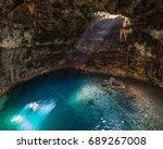 samula cenote near valladolid ... | Shutterstock . vector #689267008