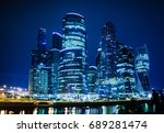 night view of the moscow... | Shutterstock . vector #689281474