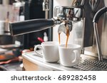 espresso coffee shot from... | Shutterstock . vector #689282458