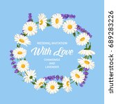 colorful wedding wreath with... | Shutterstock .eps vector #689283226