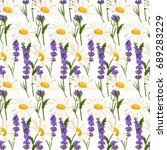 colorful  seamless pattern with ... | Shutterstock .eps vector #689283229