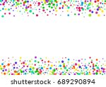watercolor rainbow colored... | Shutterstock . vector #689290894