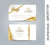 vector set of elegant gift... | Shutterstock .eps vector #689297749