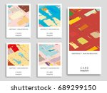 colorful grunge backgrounds... | Shutterstock .eps vector #689299150
