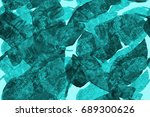 banana leaf tropical seamless... | Shutterstock . vector #689300626