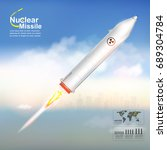 nuclear missile vector | Shutterstock .eps vector #689304784