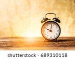 Black Alarm Clock With Blur...