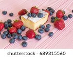 a peace of a home style curd... | Shutterstock . vector #689315560