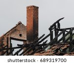 Ruins Of A Burned Down...