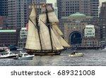 tall ship  2   blue nose ii... | Shutterstock . vector #689321008