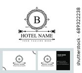 luxury logo template in vector... | Shutterstock .eps vector #689322238