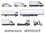 vector realistic delivery...   Shutterstock .eps vector #689322319