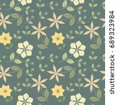 decorative seamless pattern... | Shutterstock .eps vector #689323984