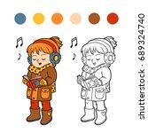 coloring book for children ... | Shutterstock .eps vector #689324740