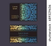 luxury business cards with... | Shutterstock .eps vector #689329636