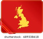 map of united kingdom | Shutterstock .eps vector #689338618