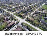 Aerial View Of A Neighborhood...