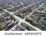 aerial view of a neighborhood... | Shutterstock . vector #689341870