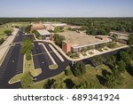 aerial view of a high school... | Shutterstock . vector #689341924
