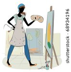 artist at work  raster also...   Shutterstock .eps vector #68934196