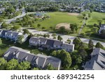 aerial view of a neighborhood... | Shutterstock . vector #689342254