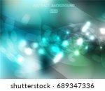 lights on blue background bokeh ... | Shutterstock .eps vector #689347336
