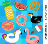 vector collection of  floats in ... | Shutterstock .eps vector #689348986