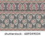 seamless traditional indian...   Shutterstock . vector #689349034
