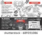 restaurant cafe menu  | Shutterstock .eps vector #689351086