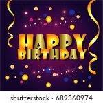 happy birthday cartoon | Shutterstock .eps vector #689360974