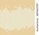 honeycomb seamless back ground. ... | Shutterstock .eps vector #689362339