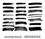 vector black paint  ink brush... | Shutterstock .eps vector #689364034