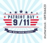 patriot day background with... | Shutterstock .eps vector #689366620