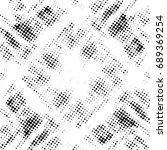 halftone dots texture... | Shutterstock .eps vector #689369254