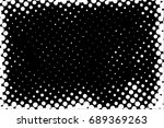 halftone dots texture... | Shutterstock .eps vector #689369263