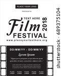 film festival poster | Shutterstock .eps vector #689375104