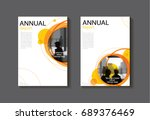 orange circle abstract cover... | Shutterstock .eps vector #689376469
