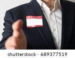 hello  my name is | Shutterstock . vector #689377519