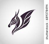 dragon logo icon vector... | Shutterstock .eps vector #689378494