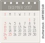 december 2017 calendar   vector ... | Shutterstock .eps vector #689380168