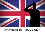 Silhouette Of A Soldier...