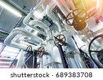 industrial zone  steel... | Shutterstock . vector #689383708