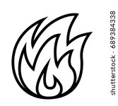 fire thin line vector icon | Shutterstock .eps vector #689384338