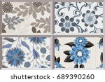 abstract home decorative oil...   Shutterstock . vector #689390260