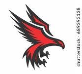 eagle logo | Shutterstock .eps vector #689392138
